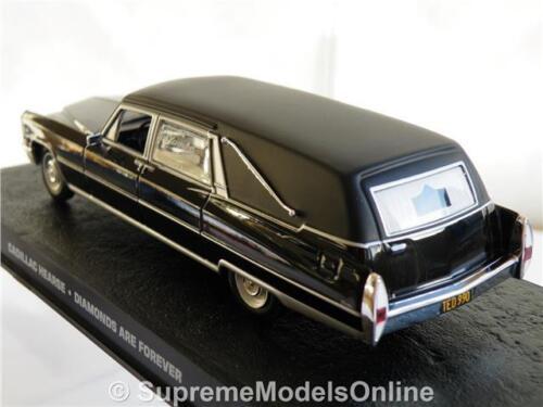 CADILLAC Bond CARRO FUNEBRE modello auto 1//43RD Taglia Nero Colour LWB VERSIONE R 0154 x {}