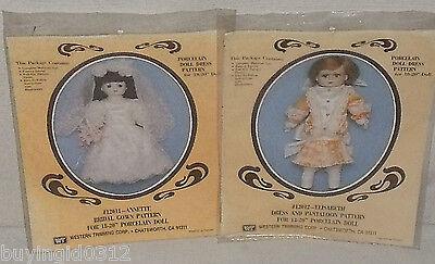 """Abito Motivi Per Porcellana Bambola 18 - 20 """" Sposa Pantaloon Vintage Nuovo Con Le Attrezzature E Le Tecniche Più Aggiornate"""
