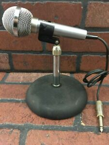 Vintage Realistic Microphone And Cast Iron Stand Ebay
