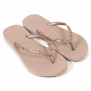 737f607f52b36 Details about Havaianas Women s Slim Hardware Spider Slip On Rubber Flip  Flop Rose Gold