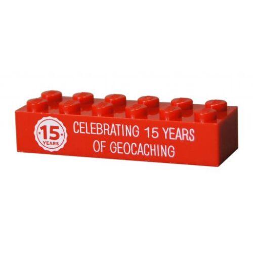 anni di Geocaching monitorabile MATTONCINO LEGO Ufficiale 15 quindici