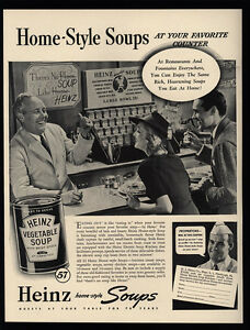 Image Is Loading 1940 HEINZ Home Style Vegetable Soup Lunch Counter