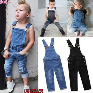 elegant in style preview of incredible prices Details about Infant Kids Boys Girls Denim Jumpsuit Playsuit Dungaree  Overalls Outfits Clothes