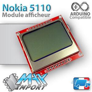 Afficheur-Nokia-5110-sur-adaptateur-PCB-Retroeclairage-Blanc-Arduino-display