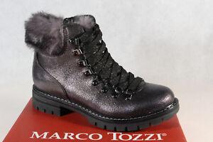 26241 Tozzi Ankle Marco Lace Bottes Gris Nouveau Up Pour Femmes qpSGUVzM