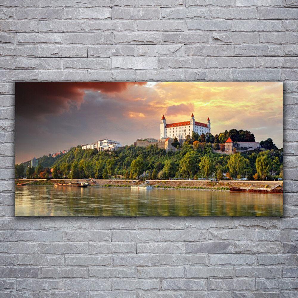Photo sur toile Tableau Image Impression 120x60 Paysage Lac Ville