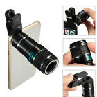 12X Zoom Optical Telephoto Camera Clip On Telescope Lens For Mobile Smart Phone