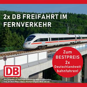 2x DB Bahn trajet Billet Coupon Extra Allemagne ecoupon comme LIDL/Flex  </span>