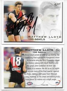 SELECT-2000-MATTHEW-LLOYD-100-GOAL-CARD-HAND-SIGNED-PERFECT-SIGNATURE
