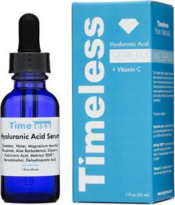 521a9346874 1 bottles Hyaluronic Acid Serum + Vitamin C 1 oz (30 ml ) timeless ...