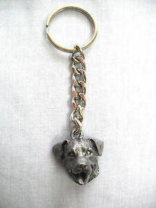 NEW ROTTWEILER HEAD WORKING GUARD DOG THICK HEAVY METAL KEY RING ... aafb0fdc8