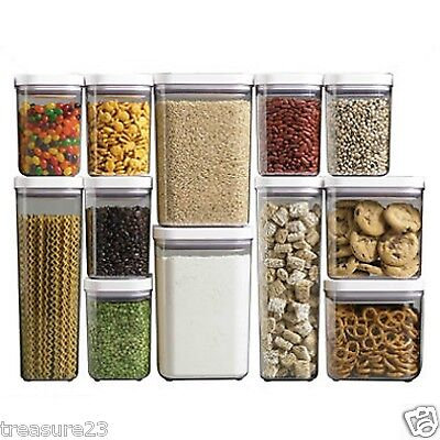 OXO 12 Pc Good Grips POP Plastic Storage Container Set, Airtight, Stackable NEW
