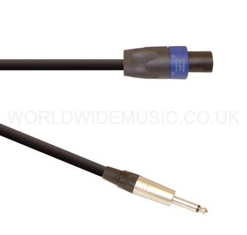 """3 Metre Loudspeaker Lead Cable with Neutrik 2 Pole Speakon to 1//4/"""" Jack Plug"""