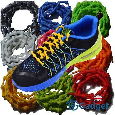 iRUN Elastic Knot Shoelaces No Tie Easy Stretch Fit Triathlon Sport Laces UK