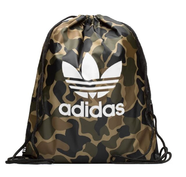 adidas Originals Trefoil Camo Gymsack Drawstring Backpack Bag #cd6099