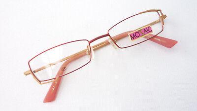 Modestil Marken Fassung Mozaic Brille Damen Schmal Eckig Ausgefallen Gestell Rot Grösse M Auswahlmaterialien Kleidung & Accessoires
