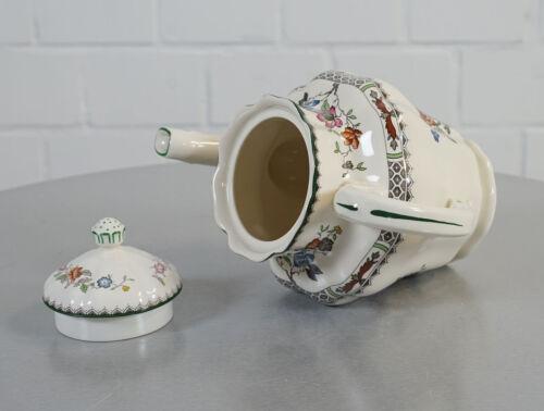 edle Spode Copeland Chinese Rose 2/9253 Porzellan Kaffee Kanne 1,3 L Vintage RAR