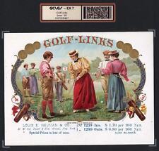 Antique Golf c1898  - Golf Links - SUPERB ORIGINAL EX RARE Cigar Box Label #6427