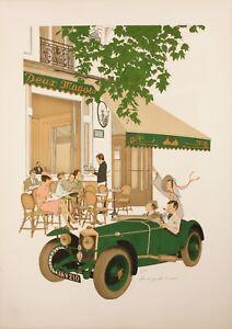 Original-Vintage-Poster-Noyer-Denis-Paul-Les-Deux-Magots-Paris-1979