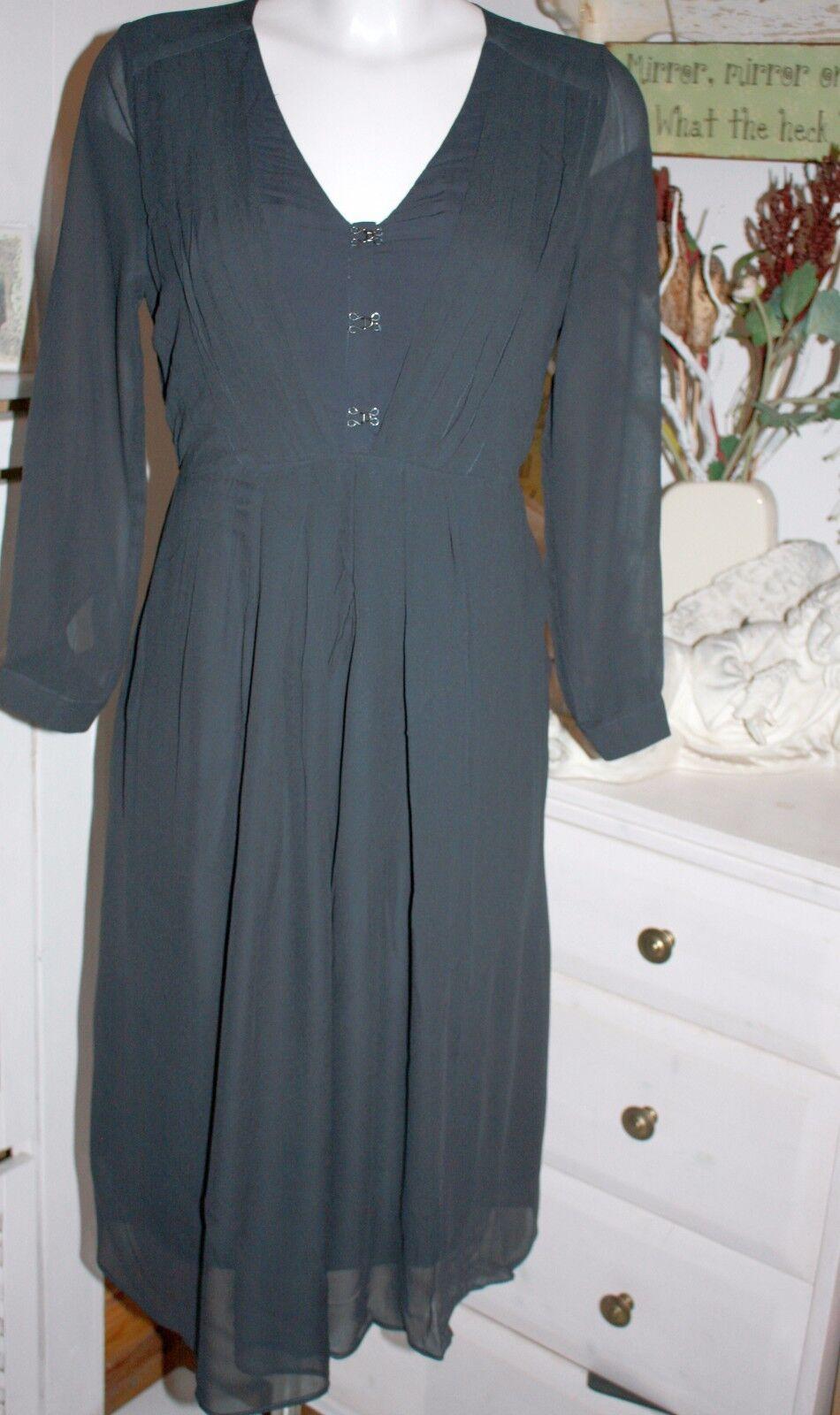 Noa Noa  Kleid Dress September India Ink Langarm  Größe 38  Neu