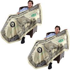 NEW (Set of 2) Million Dollar Blanket - Gives New Meaning to Financial Security!