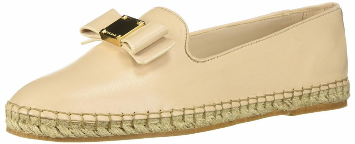 Cole Haan Women's Tali Bow Espadrille Leather Oxford Slip-On Loafer Sandal Flat