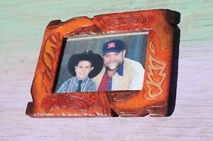 Faux Leather Cowboy Boot Border Picture Photo Frame 3 25