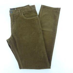 Prada Brown Straight Leg Corduroy Pants Size 34