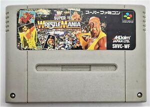 Genuine WWF Super Wrestlemania Juego Para Nintendo Super Famicom japonés Probado
