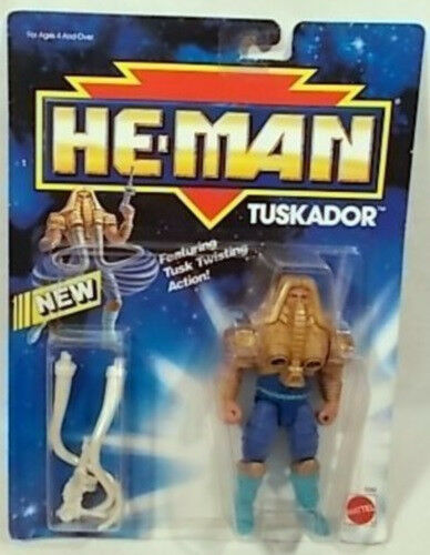 The New Adventures of He-Man-Tuskador Mattel Masters of the Universe (Comme neuf on card)
