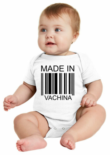 MADE IN VACHINA CUTE One Piece Baby Bodysuit