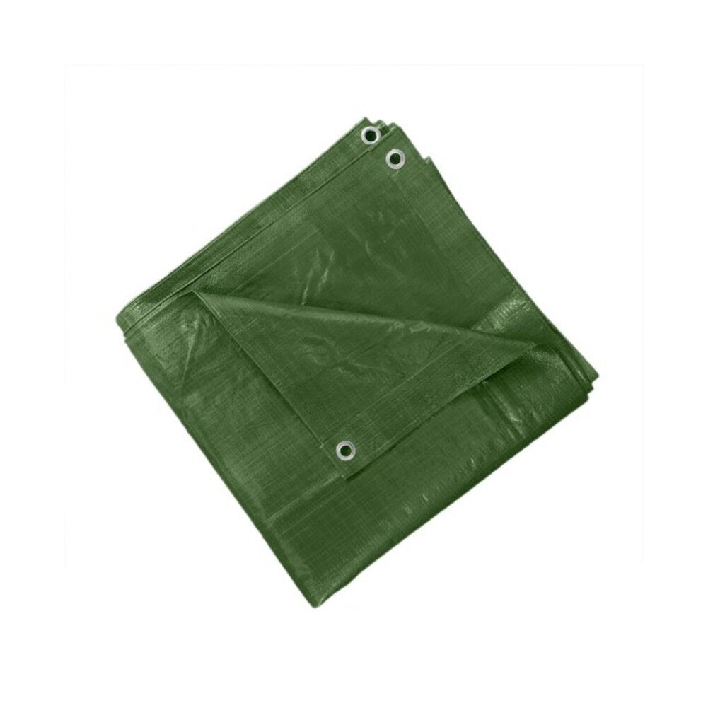 Grün Eyelets Waterproof Tarpaulin Ground Sheet Camping Cover Tarp with Eyelets Grün 90gsm b3b0f9