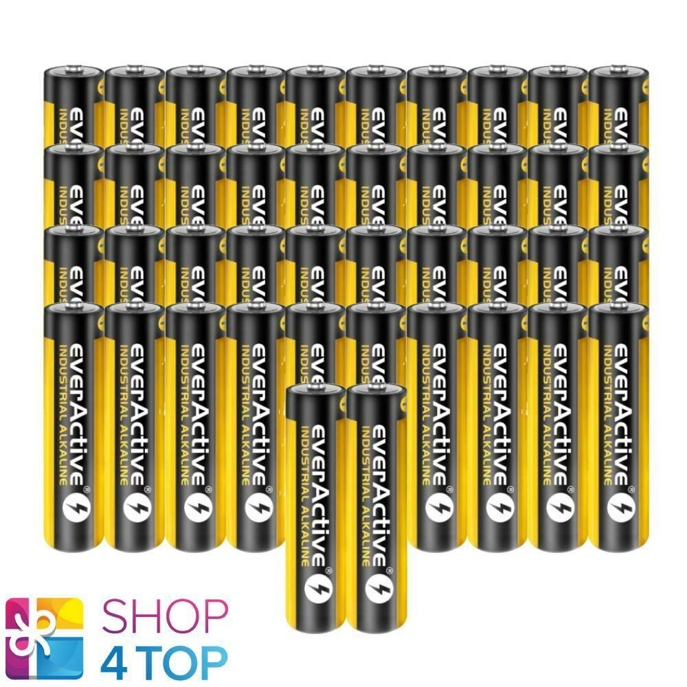 42 everActive Industrial Alkaline AAA lr03 micro 1.5v batteries Exp 2025 new