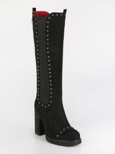 High Boots Studded /& Heel Large Woman
