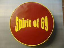Oxblod and Yellow Spirit of 69  Scooter Wheel Cover