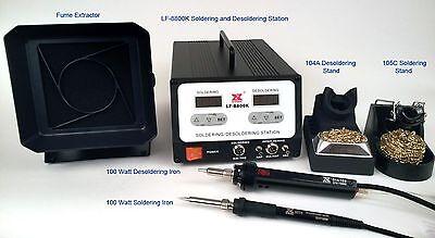 Xytronic LF8800K Soldering / Desoldering Rework Station with 100 wattt handpiece