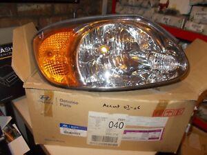 Hyundai-Accent-2003-06-RH-Headlight-Lamp-New-Old-Stock