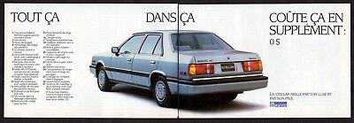 1986 HYUNDAI Stellar Vintage Original Print AD Gray car photo french canada pig