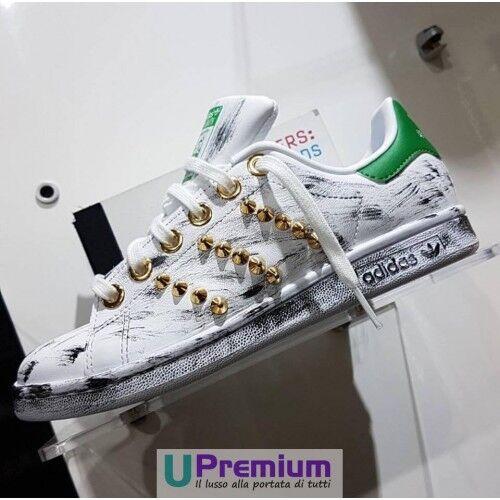 Adidas Borchiate Oro Scarpe Verde Stan Smith Vintage rx0IqAr
