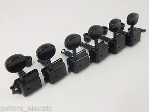 Noir-Vintage-Machine-Tetes-Arbre-Divise-Accordeurs-pour-8mm-ou-10mm-Trous