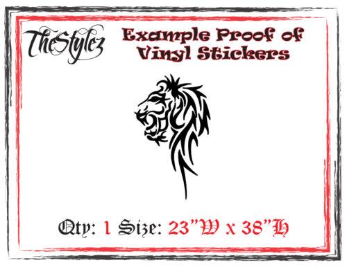 Tribal Lion Oversize Mur Vinyl Autocollant