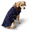 miniatura 1 - New Lands' End Dog Coat Size Small Plaid With Fur Collar And Fur Lined Inside