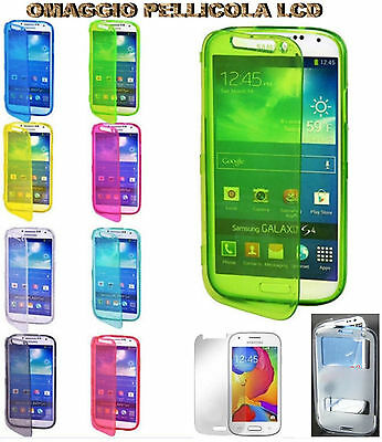 FLIP COVER CUSTODIA IN GEL GOMMA PER SAMSUNG GALAXY ACE STYLE G 310 TOUCH SCREEN