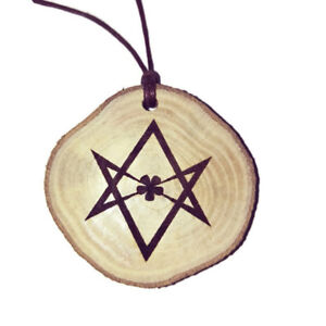 Aleister crowley unicursal hexagram necklace charm wooden handmade image is loading aleister crowley unicursal hexagram necklace charm wooden handmade mozeypictures Images