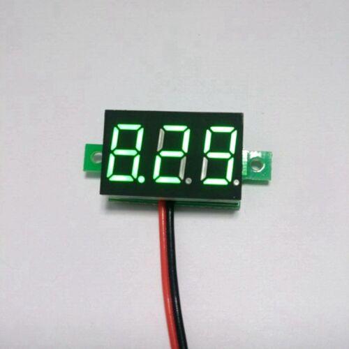 5pcs Digital Car Voltmeter DC 12V 24V 30V 2 Wires Green LED  Battery Monitor