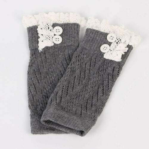 Toddler Kids Baby Girl Crochet Knitted Lace Boots Cuffs Toppers Leg Warmer Socks