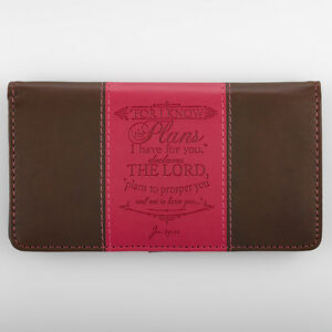 CHECKBOOK-COVER-For-I-Know-the-Plans-I-Have-For-you-Pink-amp-Brown-Faux-Leather