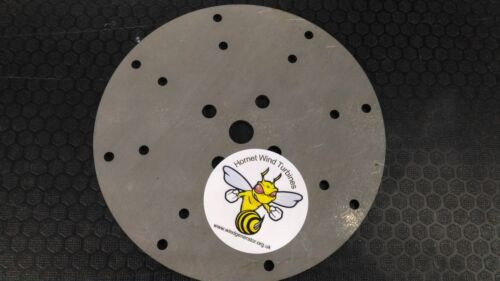 Wind Turbine Hub 17 mm center hole 200 mm diameter 5 mm Quality Steel