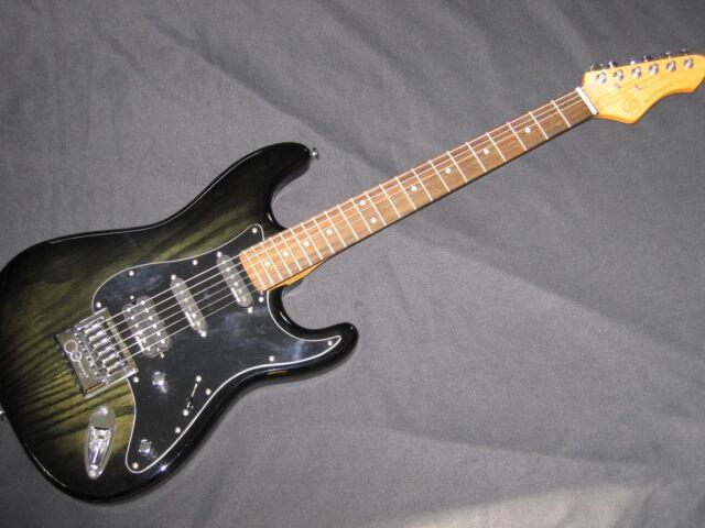 Elektr. Gitarre VGS RoadCruiser VST-110 Select, Faded Black, Evertune, Ausst. St