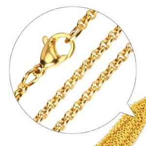 435443ec5e69 Cadena Belcher 3mm 999 bañado en oro 24 Quilates MUJER HOMBRE ORO ...